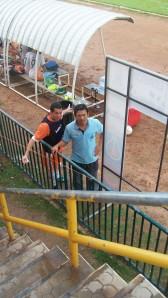Trainer und Spieler