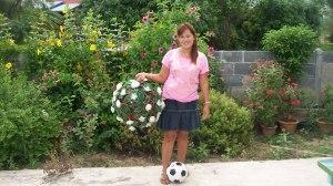 der schönste Fußball mit der besten Akteurin